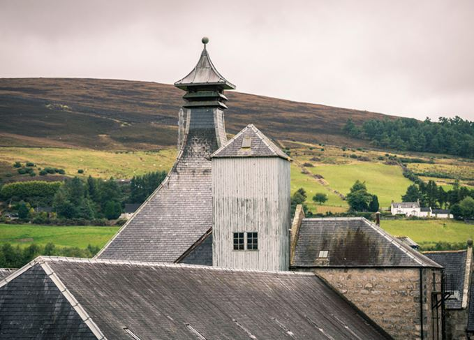 Pagoda roof of a Highland distillery