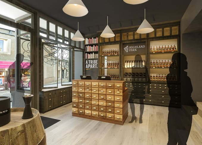 Artist's impression of Highland Park shop in Orkney