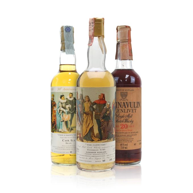 Caol Ila 1981 and Glen Mhor 1966 Costumes Series, and Tamnavulin 20 bottled for Moon Import