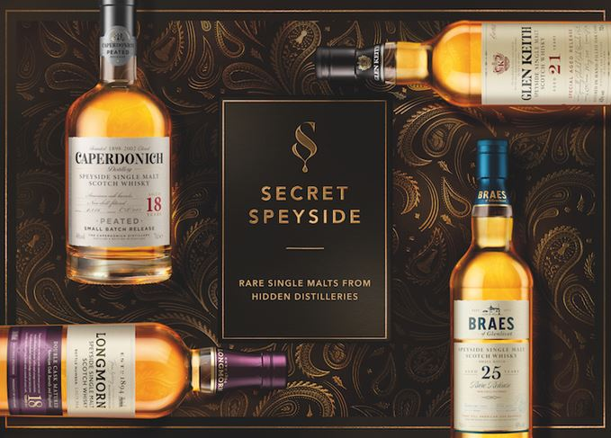 Four Secret Speyside single malts