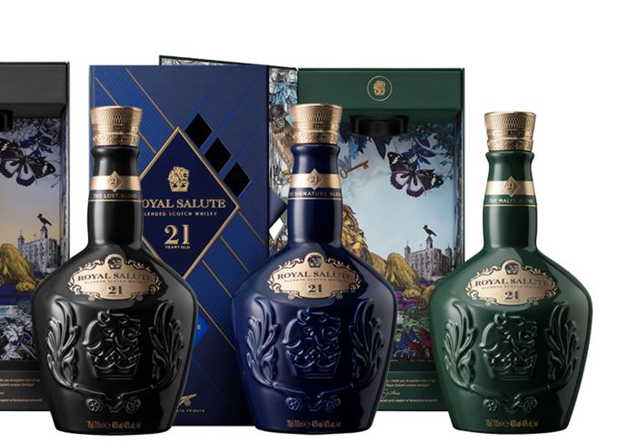 Royal Salute Lost Blend, Signature Blend and Malts Blend