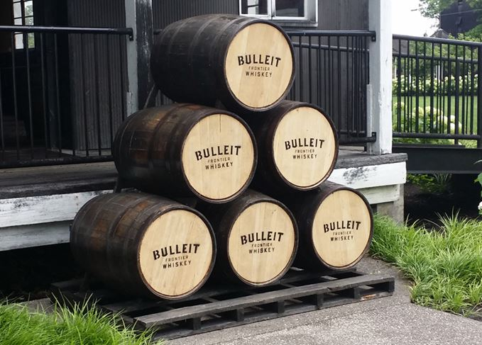 Bulleit Bourbon barrels