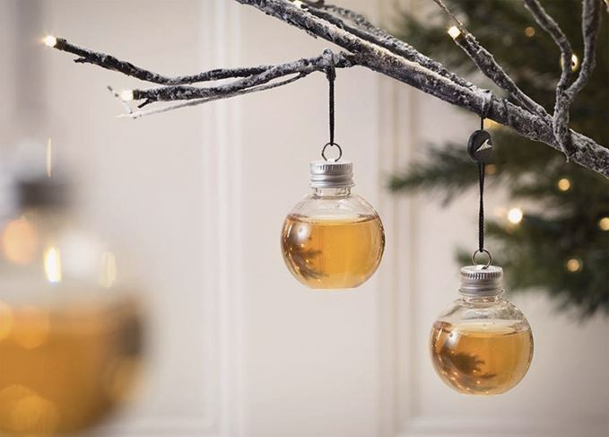 Christmas whisky baubles