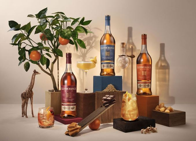 Glenmorangie The Accord, The Elementa and Tribute whiskies