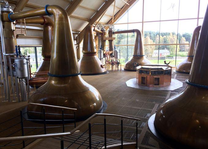 Dalmunach distillery stills