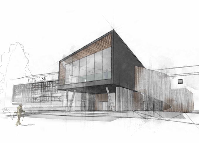 Sketch of new look Clynelish distillery
