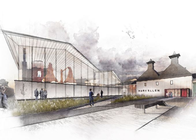 Port Ellen distillery artists impression