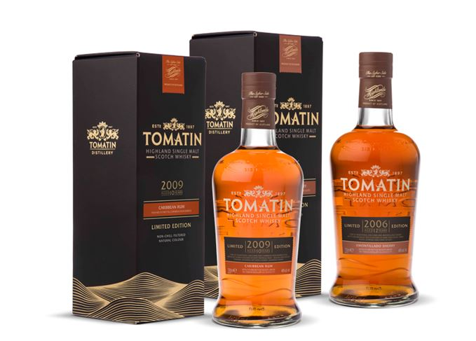 Tomatin 2009 Caribbean Rum and 2006 Amontillado Sherry finishes