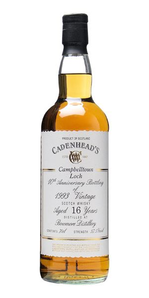 Bowmore 16 Years Old (1993; Cadenhead)