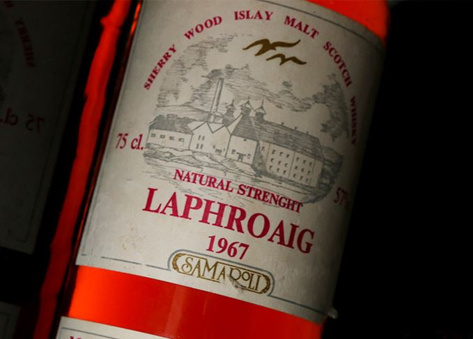 Laphroaig 1967 Samaroli label close-up