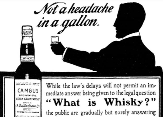 Cambus ad What is whisky?