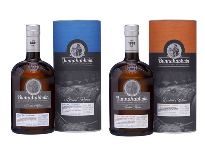 Bunnahabhain Moine Brandy Finish and Pedro Ximénez Sherry Finish