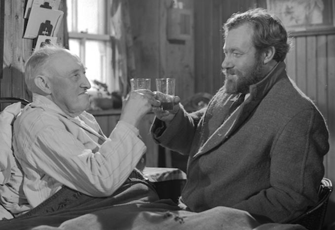 James Robertson Justice as Dr Maclaren in Whisky Galore