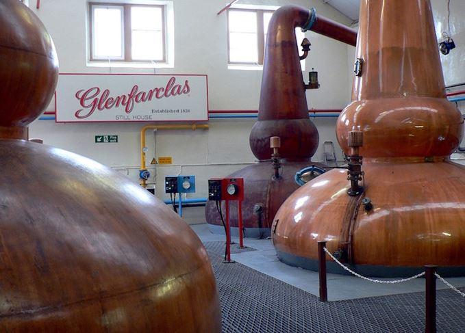 Glenfarclas distillery's stills