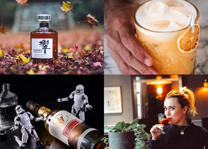 Whisky instagrams to follow: Hibiki in autumn, whisky sour, a woman sipping a Manhattan and stormtroopers