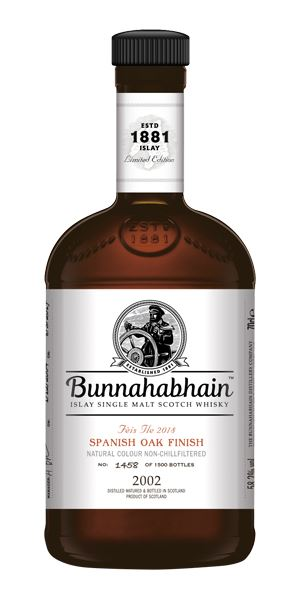 Bunnahabhain 2002 Spanish Oak Finish, Fèis Ìle 2018