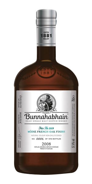 Bunnahabhain Mòine 11 Years Old, French Oak Finish, Fèis Ìle 2019