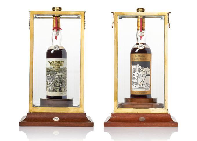 Macallan 1926 bottles Sir Peter Blake Valerio Adami