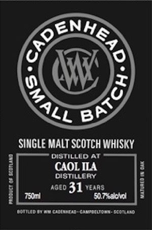 Caol Ila 31 Years Old Small Batch (Cadenhead)