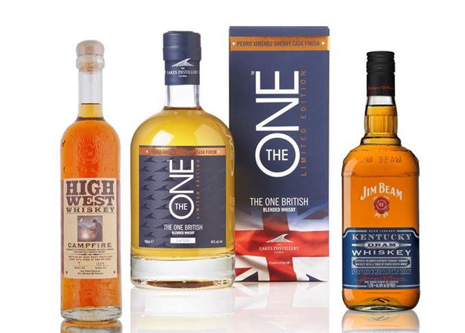 Hybrid whiskies High West, The One, Jim Beam Kentucky Dram