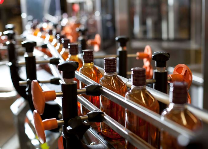 Blended Scotch bottling line