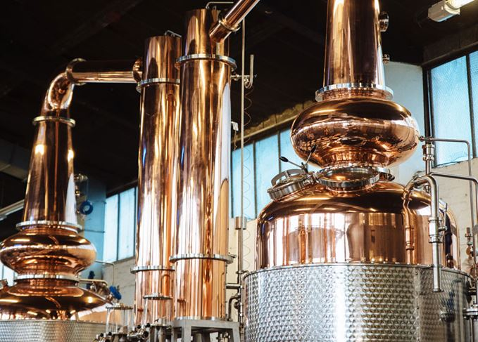 Glasgow distillery's stills, Margaret and Frances