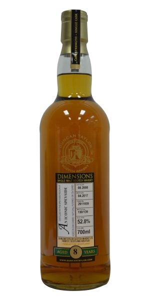 An Iconic Speyside 8 Years Old, Dimensions (Duncan Taylor)