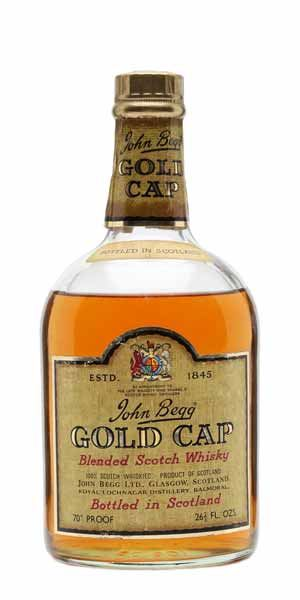 John Begg Gold Cap, 70˚ Proof