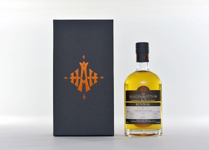 The Higginbottom Bunnahabhain 27 Years Old bottle and carton
