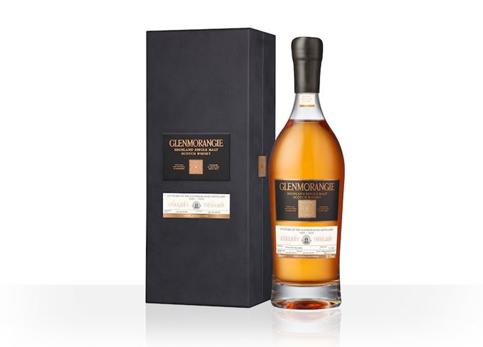 Glenmorangie 175th anniversary whisky bottle and box