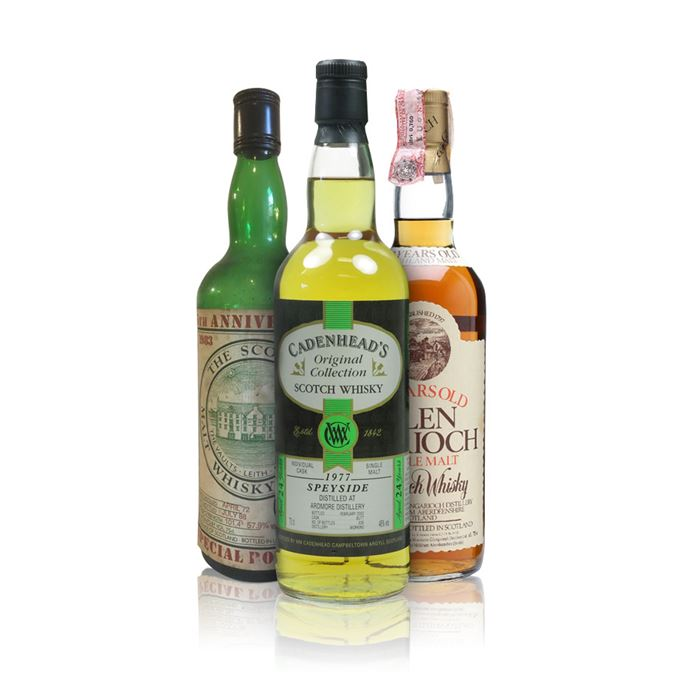 1977 Ardmore bottled by Cadenhead, 1980s Glen Garioch and a 16-year-old SMWS Glenlivet