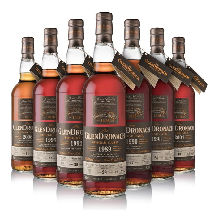 GlenDronach's 2018 annual single cask releases