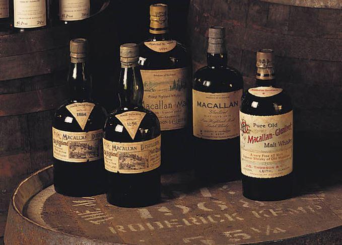Macallan antique bottles