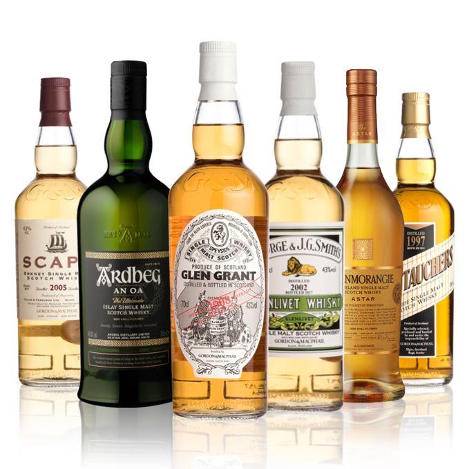 Gordon Macphail distillery Labels, Ardbeg An Oa, Glenmorangie Astar