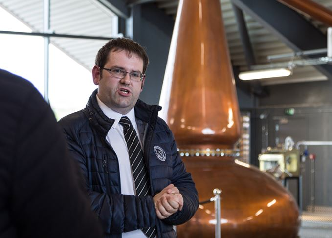 Lagg distillery manager Graham Omand