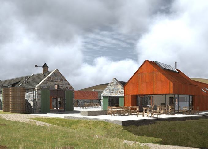 Architect's impression of the Cabrach Heritage Centre