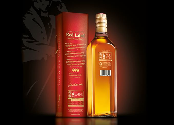 Johnnie Walker Red Label calorie content