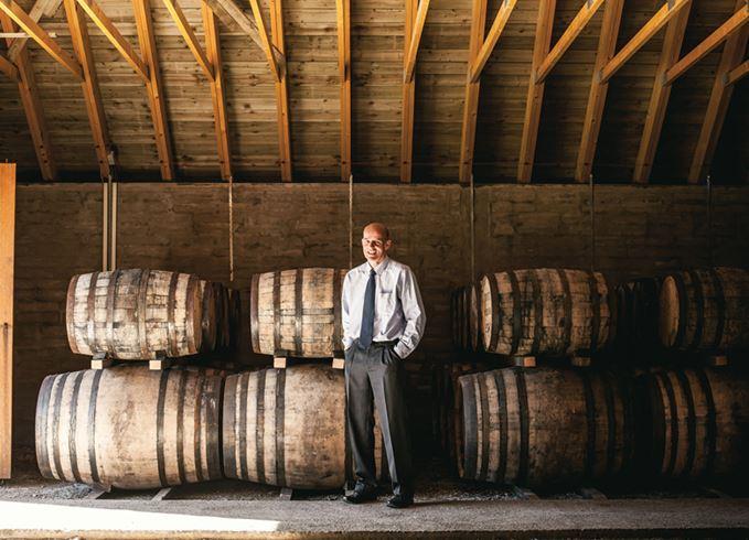 Knockdhu distillery manager Gordon Bruce