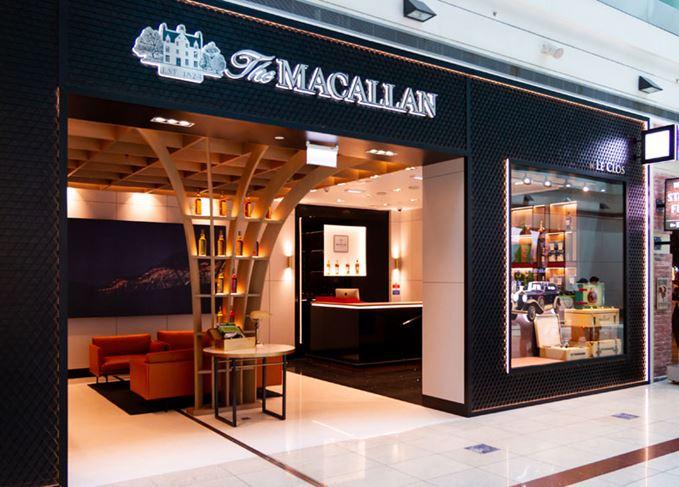 Macallan Boutique at Dubai airport