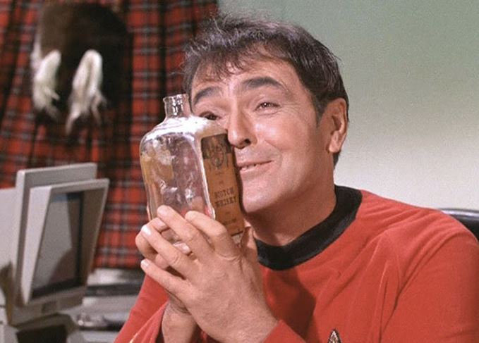 Montgomery Scott, Scotty, of Star Trek loves Scotch whisky
