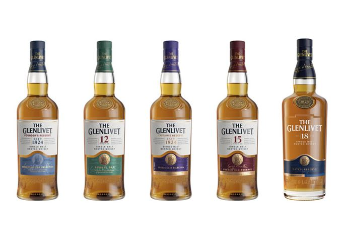 The Glenlivet's redesigned core range for 2019