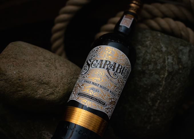 Scarabus Islay single malt whisky from Hunter Laing