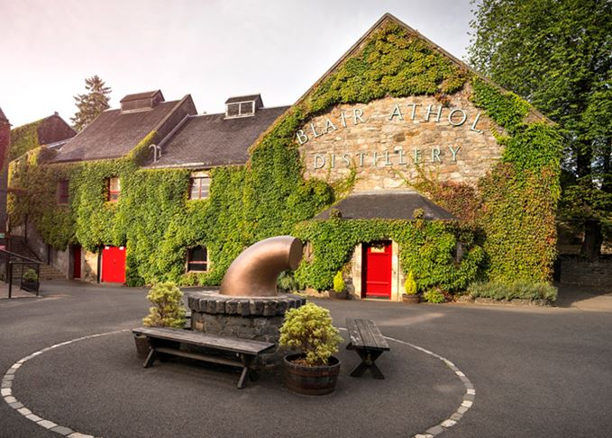 Blair Athol distillery visitor centre popular with tourists