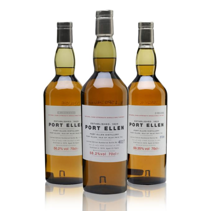 Port Ellen 1st release, Port Ellen 2nd release, Port Ellen 4th release