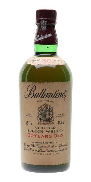 Ballantine's 30 Years Old, Bottled c.1980