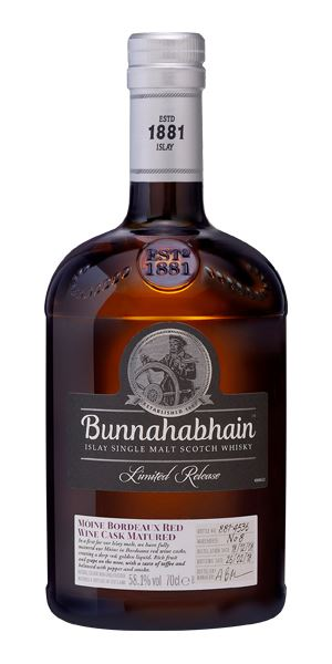 Bunnahabhain Mòine 10 Years Old, 2008, Bordeaux Cask