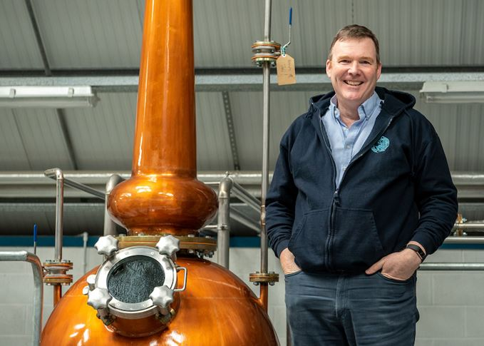 James Doherty with gin pot still