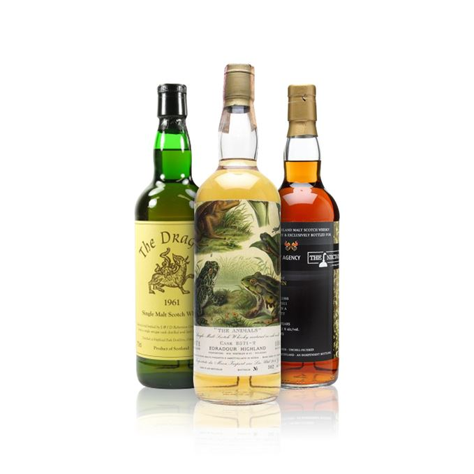 Rare whisky reviews: Edradour 1971 The Animals; Highland Park 1961 The Dragon; Tomatin 1966 45 year old.