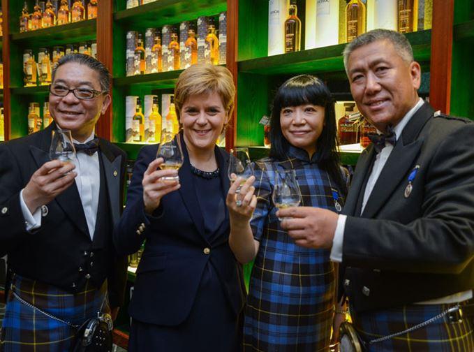 Nicola Sturgeon opens Whisky Experience, Beijing