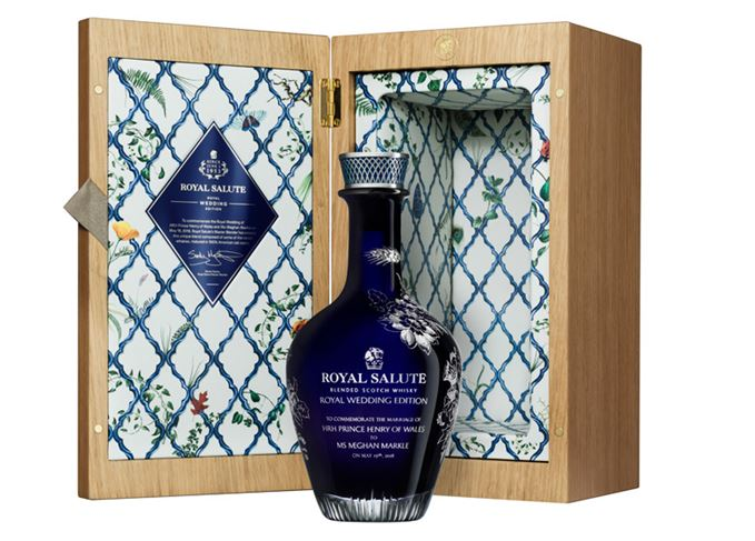 Royal Salute Royal Wedding Edition and presentation box